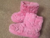 (not walked on) Size 12-13 Pink Boot Slippers in Joliet, Illinois
