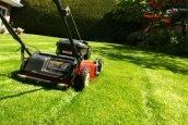 Grass cutting in Lakenheath, UK