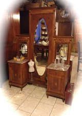 vanity with full size standing mirror in Spangdahlem, Germany