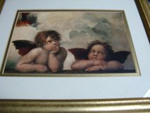 Two Angels Picture (matted & framed) in Belleville, Illinois