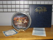 "Reduced~Terry Redlin Plate ""Trimming the Tree) in Sandwich, Illinois"