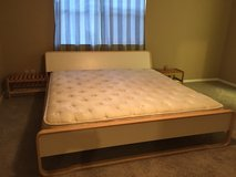 King Size Bed with Matress IKEA / 2 End Tables in Kingwood, Texas