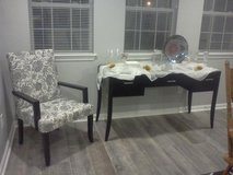 Desk/Buffet and Chair (Black and White) in Warner Robins, Georgia