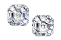 ***BRAND NEW***BEAUTIFUL 3.00 CTTW Asscher-Cut Cubic Zirconia Stud Earrings in Sterling Silver*** in The Woodlands, Texas