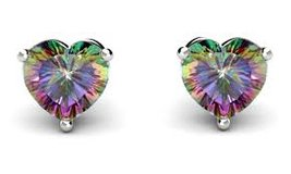 ***BRAND NEW***2 CTTW Mystic Topaz Heart Shaped Earrings*** in The Woodlands, Texas
