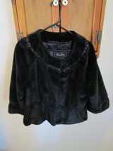 Terry Lewis Black Faux Fur Jacket Women's Size Large in Yucca Valley, California