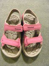 Girls Timberland Pink/Grey Sandals sz 12 in Naperville, Illinois