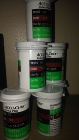 Accu-Chek aviva plus test strips 5 1/2  boxes of 50 new without box   03/31/15 in Louisville, Kentucky