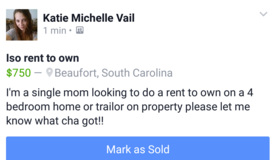 iso rent to own in Beaufort, South Carolina