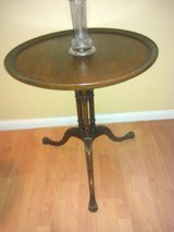 Maghony side table in Fort Sam Houston, Texas