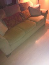 Tan sofa with pillows in Fort Sam Houston, Texas