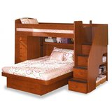 Solid Wood Bunk Bed w/stairs in Morris, Illinois