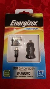 usb car charger   2,1 amp   + usb cable + ( adpater for free) in Ramstein, Germany