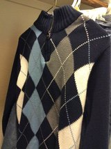 Boys' argyle sweater (size L) in Conroe, Texas
