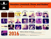 AMAZING 2nd Row Rodeo Tickets in Houston, Texas