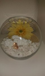 clear ball vase with stones, angel, flower in Ramstein, Germany