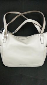 NWT MICHEAL KORS CHANDLER PEBBLE LEATHER LARGE SHOULDER TOTE IN PEARL GRAY in Birmingham, Alabama