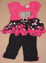 INFANT TOP AND PANTS, HOT PINK, BLACK, SILVER in Lakenheath, UK