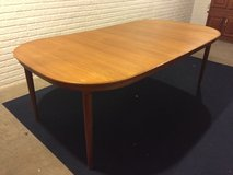 Dining Table 6 chairs 2 leafs (Teak wood) in Quad Cities, Iowa