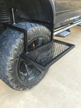 Homemade tire stand in Fort Polk, Louisiana