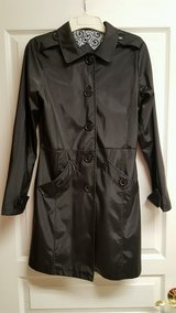 Black Button Down Pleather/Vinyl Jacket/Coat From Rave Store-(Size Medium) in Joliet, Illinois