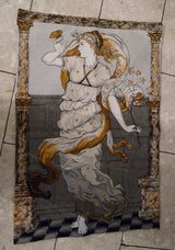 beautiful Belgian tapestry ' The goddess of spring ' in Spangdahlem, Germany