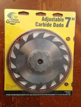 "7"" adjustable dado blade in Aurora, Illinois"
