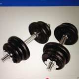 York dumbbells.  40 lbs in Beaufort, South Carolina