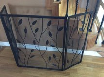 Bronze leaf fire screen in Cleveland, Texas