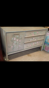 Vintage Dresser/Buffet Hand Painted in Byron, Georgia