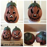 NIB Rare Vintage 2 Cast Iron Jack-O-Lanterns Pumpkin in Shorewood, Illinois