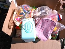 Box of toys in Alamogordo, New Mexico