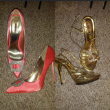 new high heels from Germany  in size 10. both $25 or each $15 in Warner Robins, Georgia