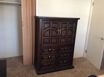 Dark Brown Walnut Armoire With A Cabinet And Drawers (1 of 4) in Alamogordo, New Mexico
