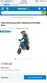 2 electric dirt bike ( one blue one and one pink one) in Fort Drum, New York
