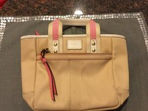 Tan & Pink Coach Purse in Chicago, Illinois