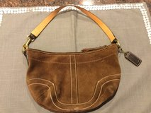 Small Brown Suede Coach Purse in Chicago, Illinois