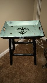 Shabby chic entryway tray table in Naperville, Illinois