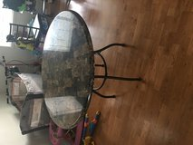 Round marble Dining room table set in Fort Lewis, Washington