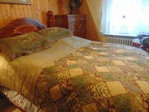 Queen size comforter with 2 pillow cases, like new in Spangdahlem, Germany