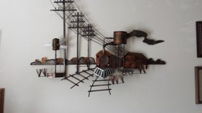 Metal Sculpture Art wall Hanger Stunning, wonderful work would be beautiful in your living Room ... in Houston, Texas