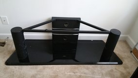 Metal and glass TV stand in Fort Gordon, Georgia