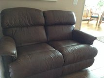 Lazy boy queen size leather sofa and reclining loveseat in Fort Rucker, Alabama