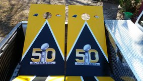 Commemorative Superbowl Cornhole Game in Warner Robins, Georgia