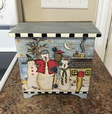 Snowman Wooden Chest of 3 Drawers in Elizabethtown, Kentucky