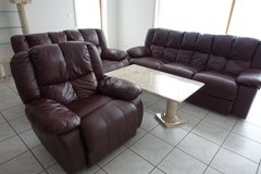 Leather Living Room Set in Ramstein, Germany