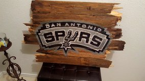 Spurs Sign, Reclaimed wood in San Antonio, Texas