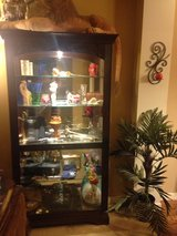 Beautiful Curio Cabinet w/Dimmer Light in Fort Lewis, Washington