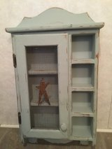 Grey Distressed Shelf/Cabinet in Chicago, Illinois