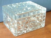 Vintage Cut Glass Box with Lid Cigarette/ Jewelry Box in Conroe, Texas